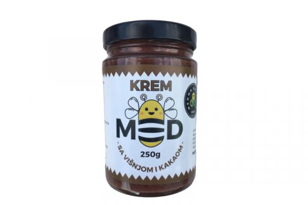 Krem med višnja i kakao 250g Medna Ravnica