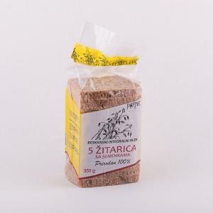Beskvasni hleb od 5 žitarica sa semenkama 350gr