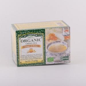 Organski zeleni čaj pojačan prirodnom aromom đumbira i organskog meda