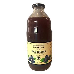 Sok od jabuke i divlje borovnice 1l Marella