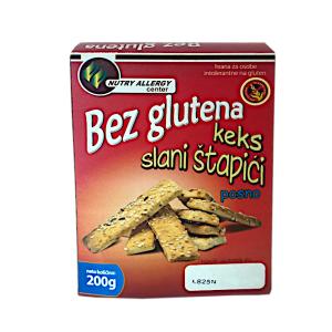 Slani štapići bez glutena 200g Nutry Allergy