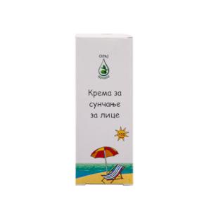 Krema za sunčanje za lice 50ml