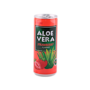 LOTTE aloe vera with strawberry juice 240ml