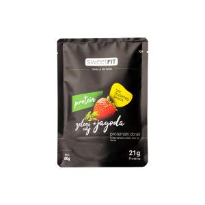 Sweet fit proteinski obrok jagoda zeleni čaj 80g