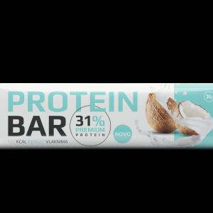 Proteinska pločica sa kakao prelivom, kokosom  i zaslađivačem 30g