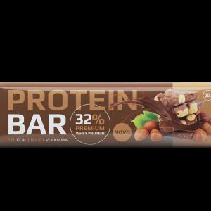Proteinska pločica sa kakao prelivom, lešnikom  i zaslađivačem 30g