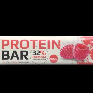 Proteinska pločica sa kakao prelivom 32%, malinom i zaslađivačem 30g