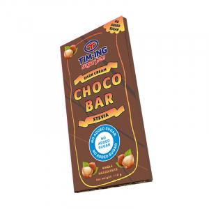 Crna čokolada sa dodatim lešnicima bez šećera 100g