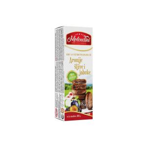Bezglutenski keks od aronije, šljive i jabuke 180g Molendini