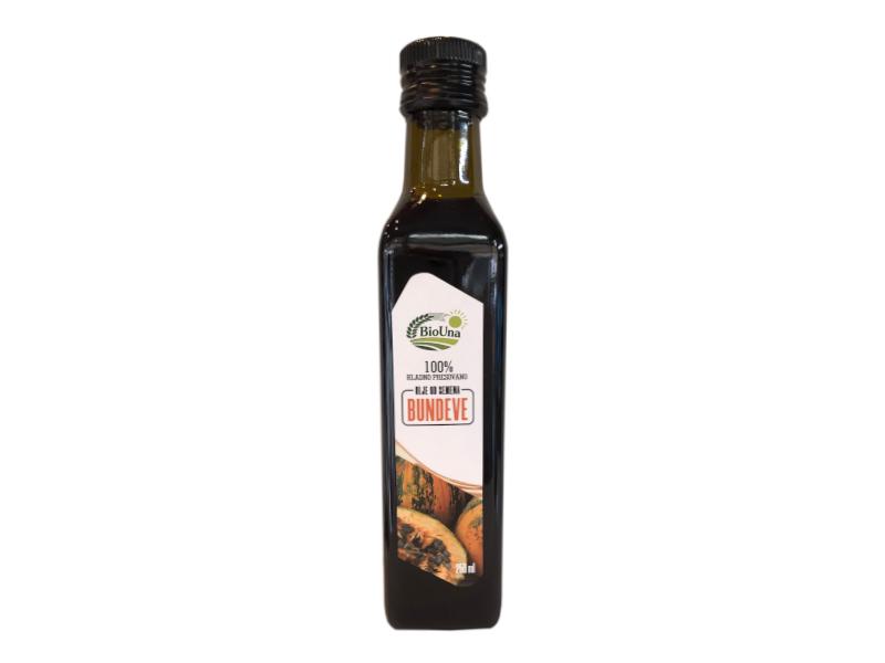 Hladno ceđeno bundevino ulje 250ml Bio Una