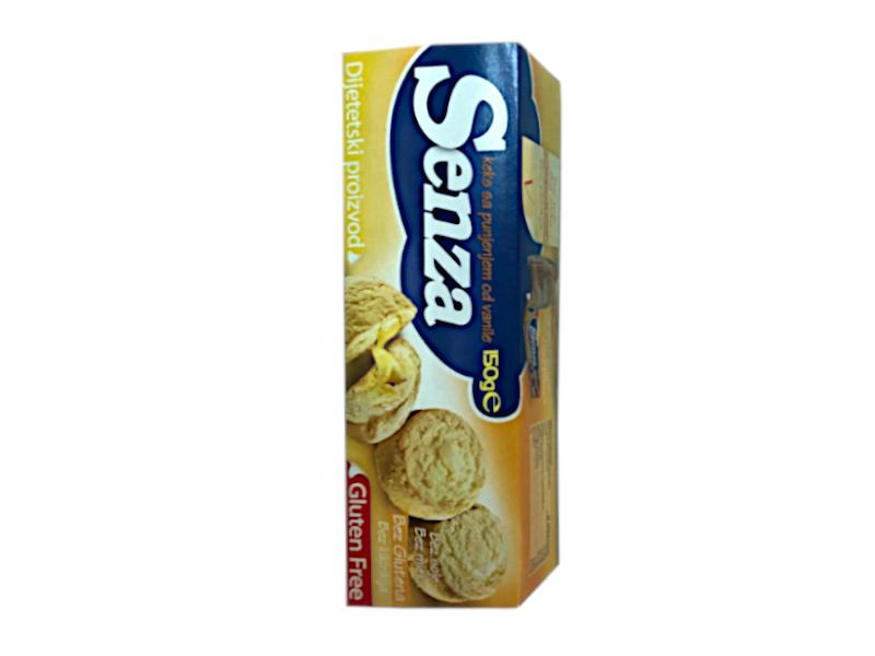Keks sa  punjenjem od vanile  bez glutena 150g